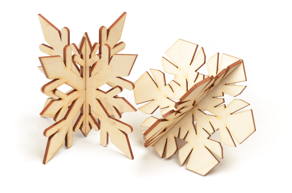 Slotted Together Christmas Trees And Snowflakes Andbosta